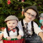 christmas photos brothers boys 6 months old 4 year old