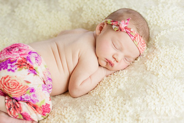 baby girl pink rose flowers newborn Insley Photography Insley Photo