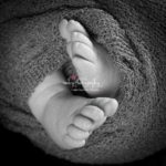 New little man black and white baby feet