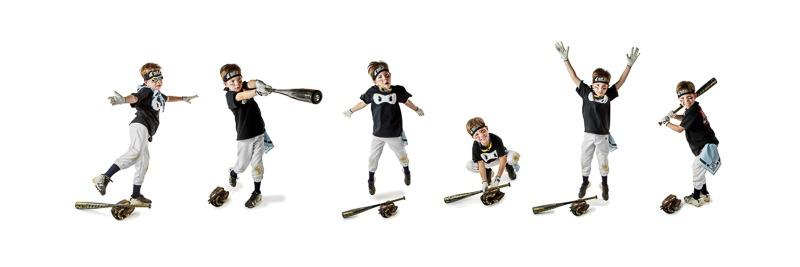 collage of boy having a blast