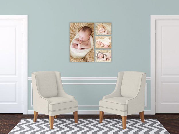 Final Artwork Gallery Fort Mill, SC Tega Cay, SC Charlotte, NC, canvas collection, newborn baby portrait