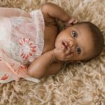 3 month old twin baby portraits   Mooresville, NC girl