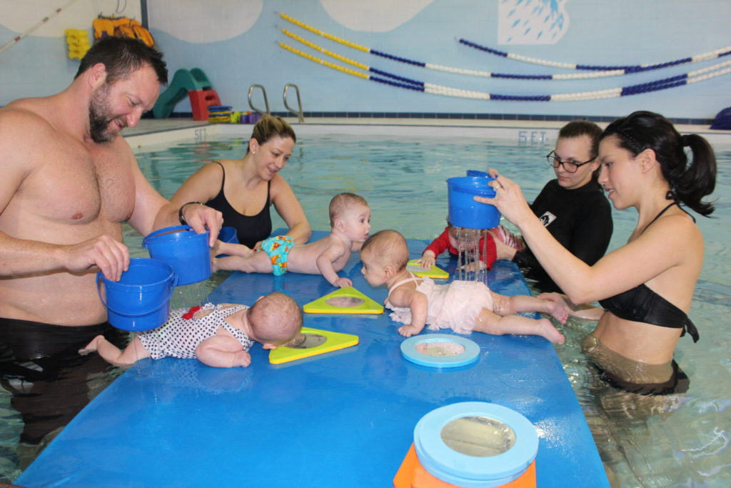 baby bonding class in action Charlotte, NC,  Charlotte Aquatics