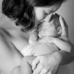 New baby boy Fort Mill, SC Charlotte, NC Tega Cay, SC portraits black and white mommy and me, doula