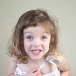 3 year old girl portrait head shots