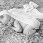 black and white newborn baby boy Oliver