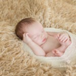 Oliver 9 days old color boy newborn sessions indoor baby portrait photo