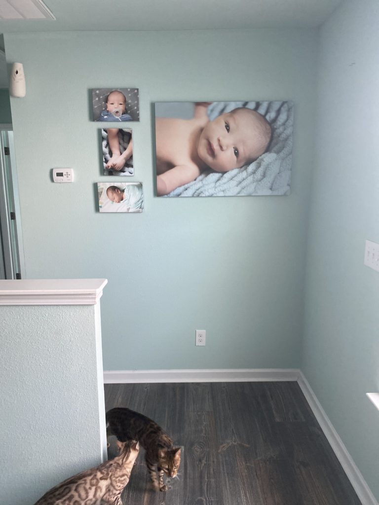 room view of wall art in home, fort mill, sc, charlotte, nc
