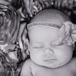 Baby Girl photos Fort Mill, SC black and white