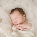 newborn baby girl mom's veil treasured portrait