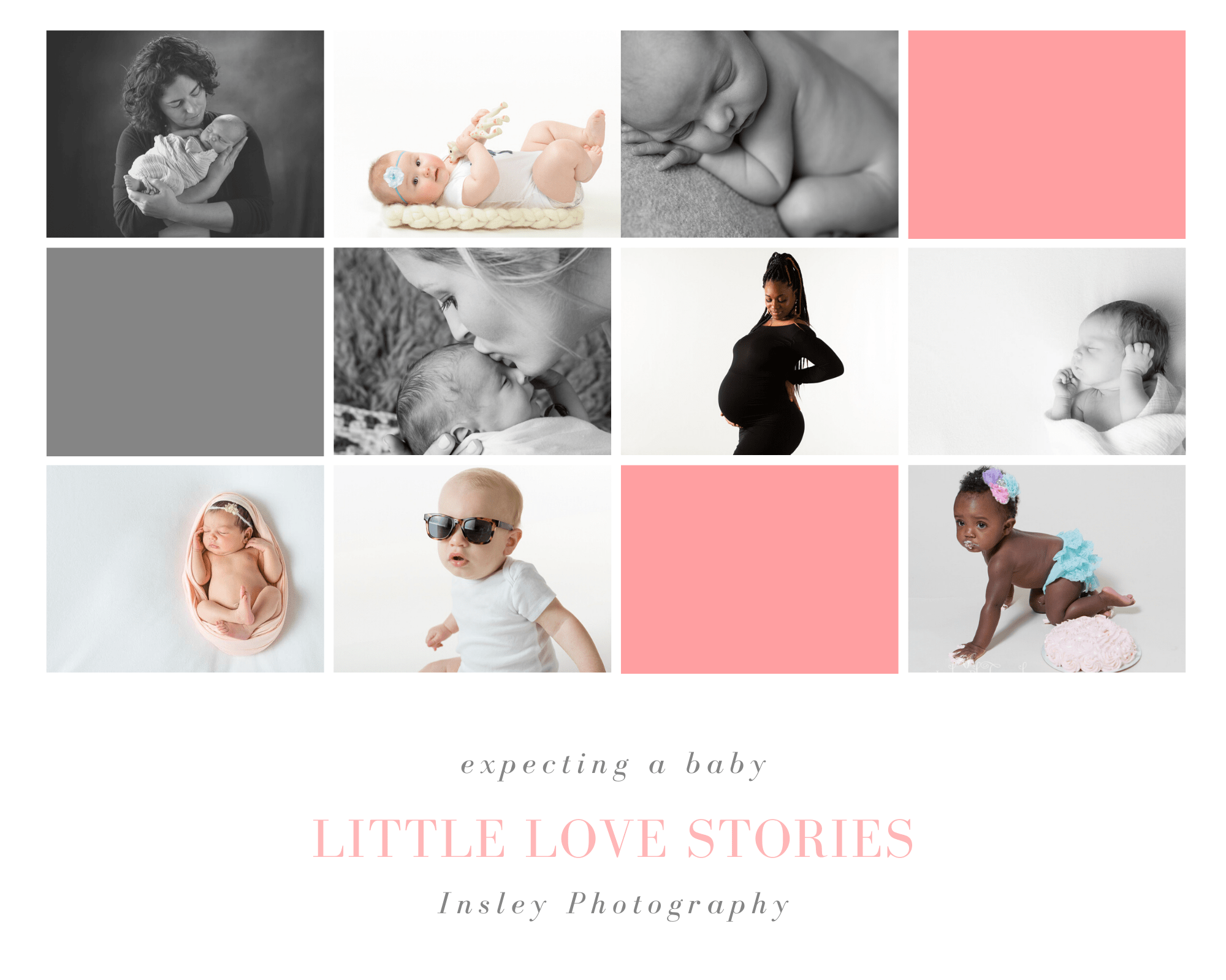 little love stories, baby's first year, image collage, Fort Mill, SC, Charlotte, NC, Tega Cay, SC, newborn, pregnancy, crawling baby, sunglasses,