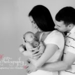 9 days old baby boy family portraits black and white