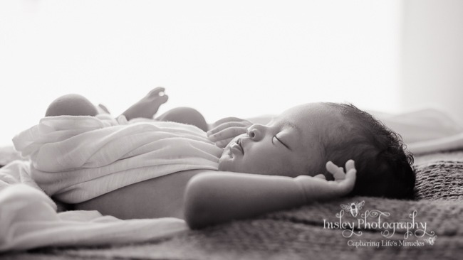 Nina's newborn session newborn baby girl portraits bw