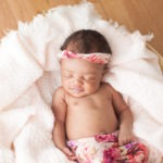 Nina's newborn session newborn baby girl portraits pink