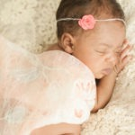 Nina's newborn session newborn baby girl portraits pink