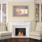 Baby Girl photos Fort Mill, SC color neutrals warm living room set