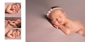 custom designed album spread, newborn baby girl, Fort mill, SC, Charlotte, NC