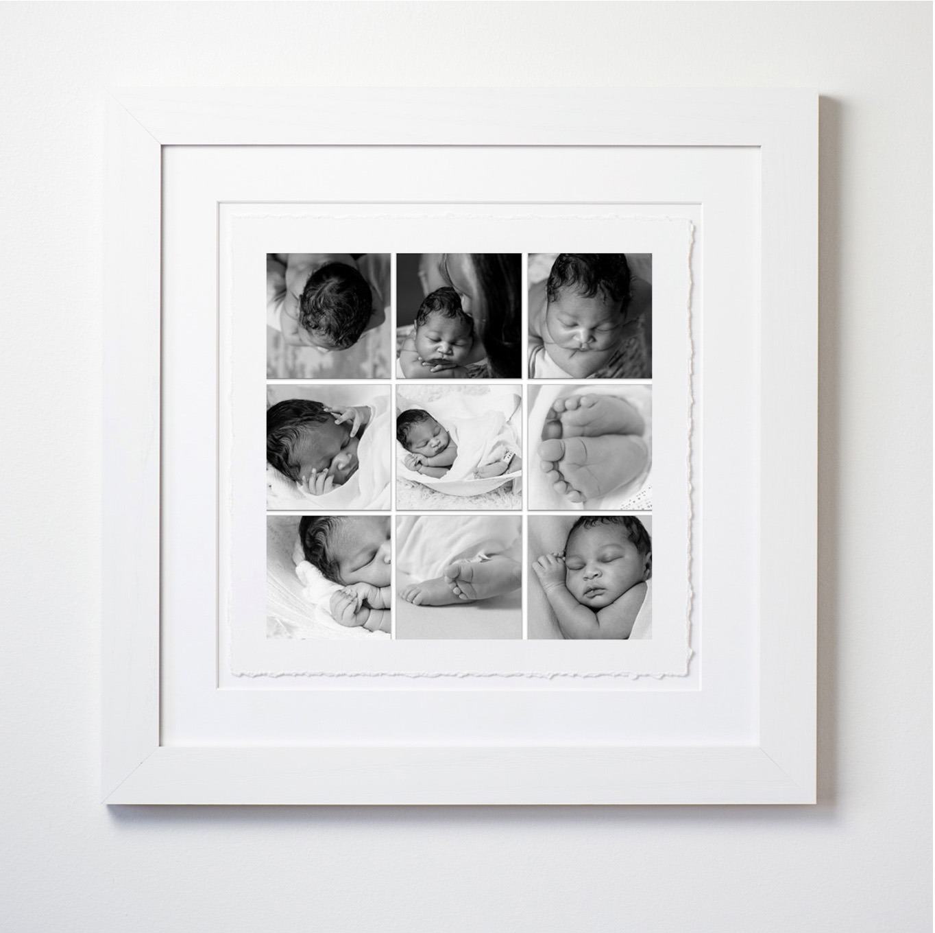 framed 9 up of baby c's pieces newborn baby boy fort mill, sc photographer