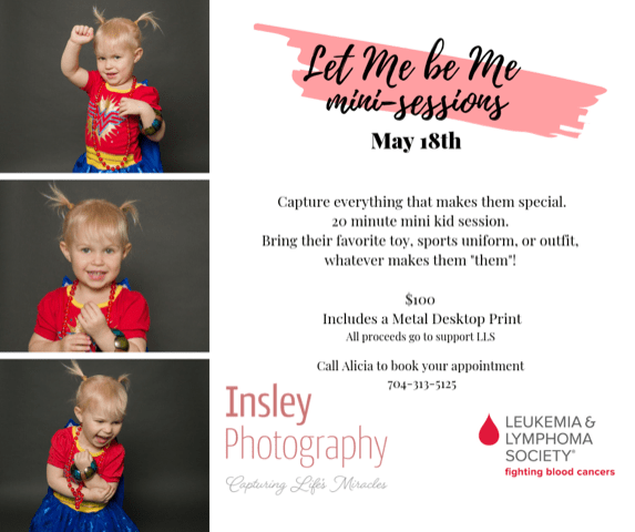 fort mill, sc Charlotte, nc Tega Cay, sc girl kid portrait Let me be Me mini sessions to support LLS