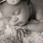 Nina's newborn session newborn baby girl portraits sepia black