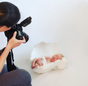behind the scenes at a newborn portrait session belly cast, Charlotte, NC, Fort Mill, SC, Tega Cay, SC