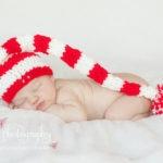 Newborn Baby Girl santa hat