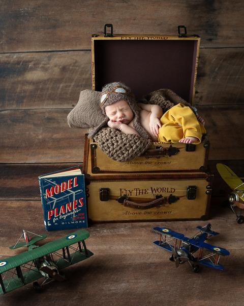 Pilot legacy baby portrait, Charlotte NC, Fort MIll, SC